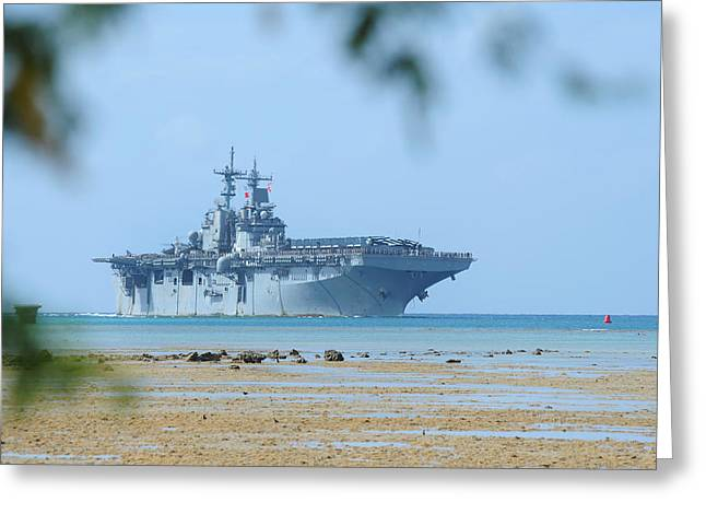 The Amphibious Assault Ship Uss Boxer  Greeting Card by Paul Fearn