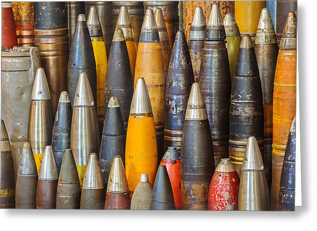 Terrorism Greeting Cards - The Ancient Bombs Greeting Card by Martin Bergsma