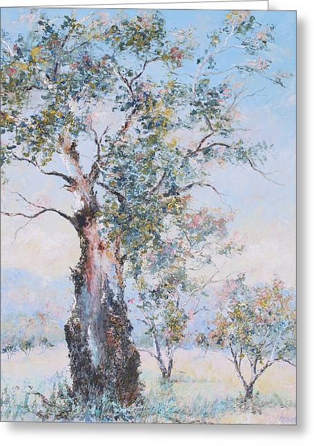 Country Cottage Greeting Cards - The ancient gum tree Greeting Card by Jan Matson