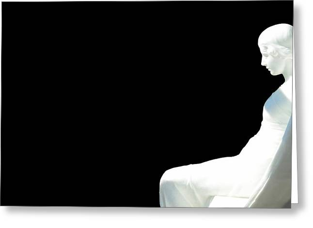 The Angel In The Room Greeting Card by Toppart Sweden
