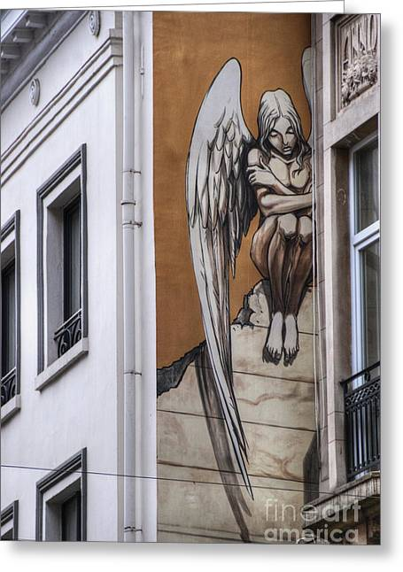 Belgian Comic Strip Art Greeting Cards - The Angel Greeting Card by Juli Scalzi