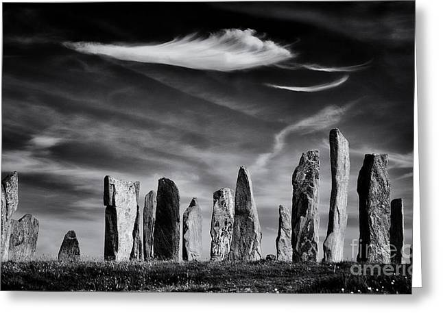 Bronze Age Greeting Cards - The Angel of Callanish  Greeting Card by Tim Gainey
