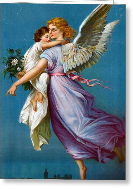 The Followers Digital Art Greeting Cards - The Angel Of Peace Greeting Card by B T Babbitt