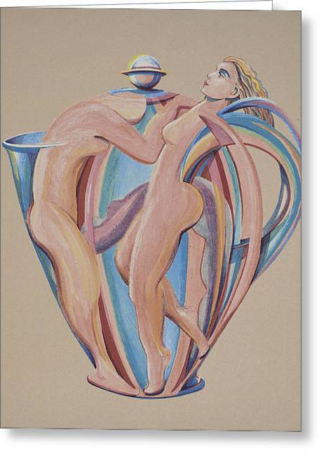 Italian Kitchen Mixed Media Greeting Cards - The Angel Pot Greeting Card by Philip Ross Munro