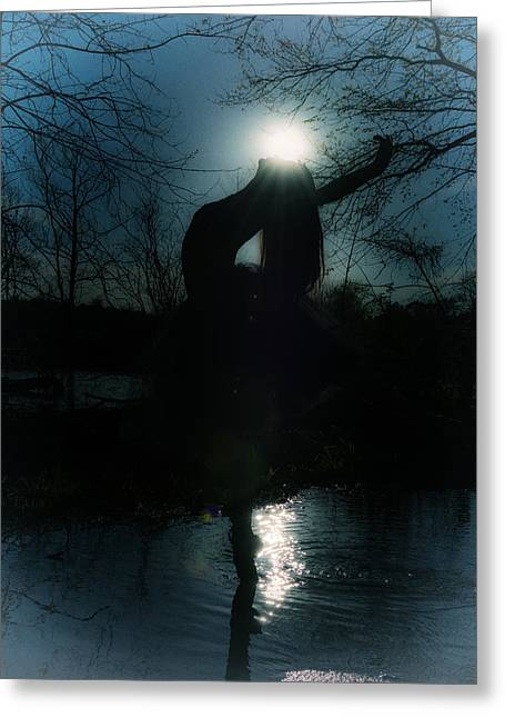 Ballet Dancers Photographs Greeting Cards - The Angel Greeting Card by Ryan Crane