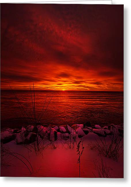 Bluesky Greeting Cards - The Angels Have a Better View Greeting Card by Phil Koch