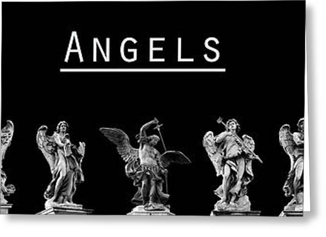 The Angels Of Rome Greeting Card by Fabrizio Troiani