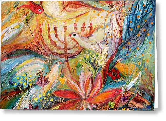 The Angels On Wedding Triptych - right side Greeting Card by Elena Kotliarker