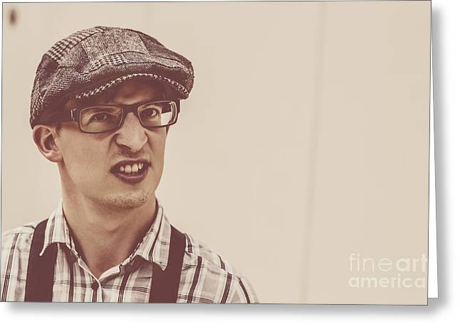 The Angry Hipster Greeting Card by Jorgo Photography - Wall Art Gallery