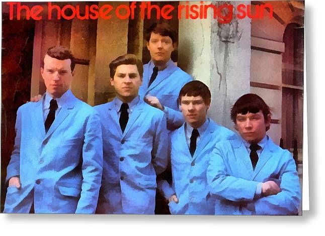 The Houses Digital Greeting Cards - The Animals House Of The Rising Sun Greeting Card by Dan Sproul