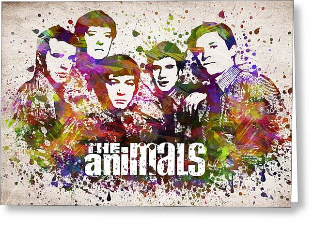 The Animals In Color Greeting Card by Aged Pixel
