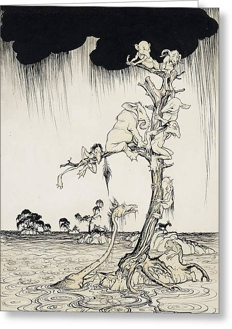 Black Pig Greeting Cards - The Animals You Know Are Not As They Are Now Greeting Card by Arthur Rackham