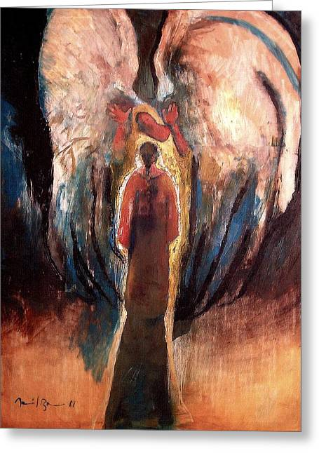 Gabriel The Angel Greeting Cards - the Announciation Greeting Card by Daniel Bonnell