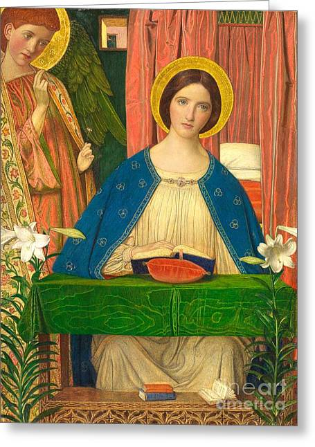 Twentieth Century Greeting Cards - The Annunciation Greeting Card by Arthur Joseph Gaskin