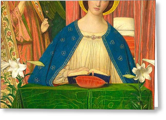 The Annunciation Greeting Card by Arthur Joseph Gaskin