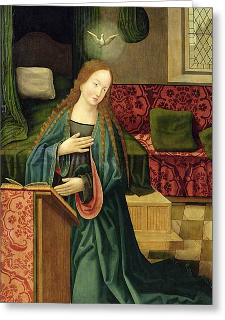 Cologne Greeting Cards - The Annunciation Greeting Card by German School