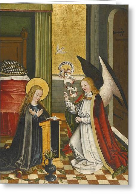 Child Jesus Greeting Cards - The Annunciation Greeting Card by Celestial Images