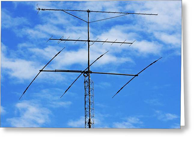 Broadcast Antenna Greeting Cards - The Antenna Greeting Card by Mountain Dreams