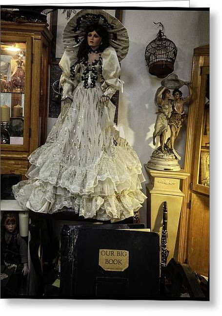Candle Stand Greeting Cards - The Antique Doll Greeting Card by Image Takers Photography LLC - Carol Haddon