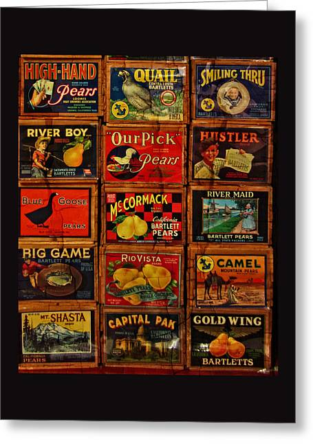 Canvas Art Prints Greeting Cards - The Antique Fruit Boxes Greeting Card by Thom Zehrfeld