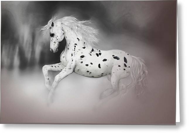 Valzart Greeting Cards - The Appaloosa Greeting Card by Valerie Anne Kelly