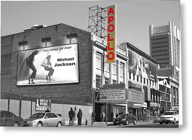 Mj Greeting Cards - The Apollo Theater Greeting Card by Nina Bradica