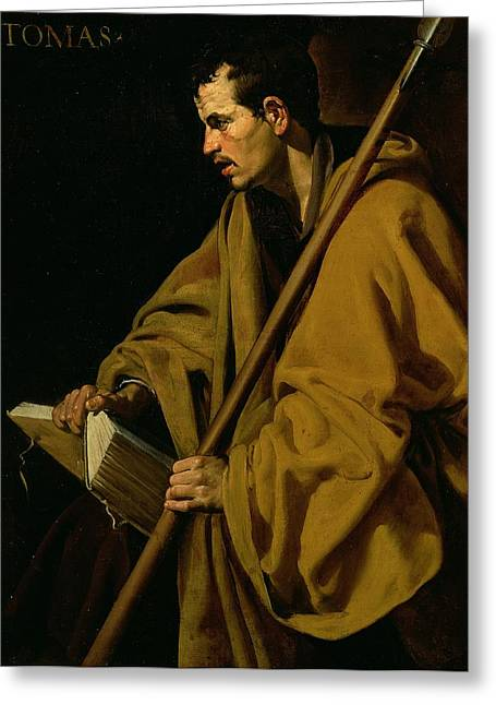 Book Greeting Cards - The Apostle St. Thomas, C.1619-20 Oil On Canvas Greeting Card by Diego Rodriguez de Silva y Velazquez