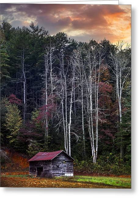 Tennessee Farm Greeting Cards - The Appalachian Mountains Greeting Card by Debra and Dave Vanderlaan