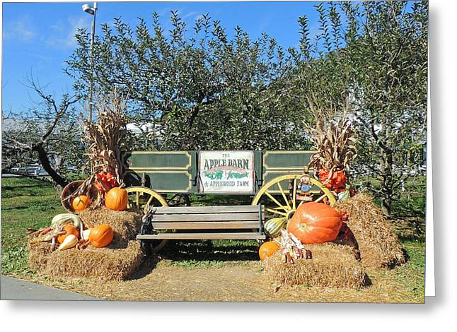 Tennessee Barn Greeting Cards - The Apple Barn Harvest Scene Greeting Card by Marian Bell