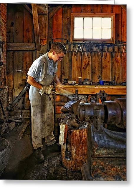 Blacksmiths Greeting Cards - The Apprentice HDR Greeting Card by Steve Harrington