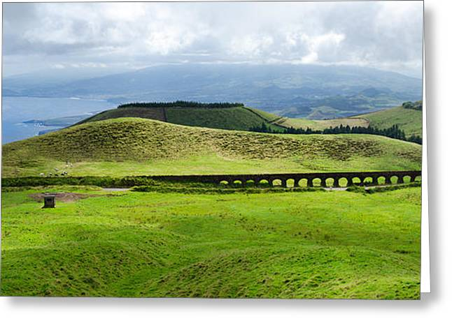 The Plateaus Greeting Cards - The Aqueduct Panoramic Greeting Card by Marco Andrade