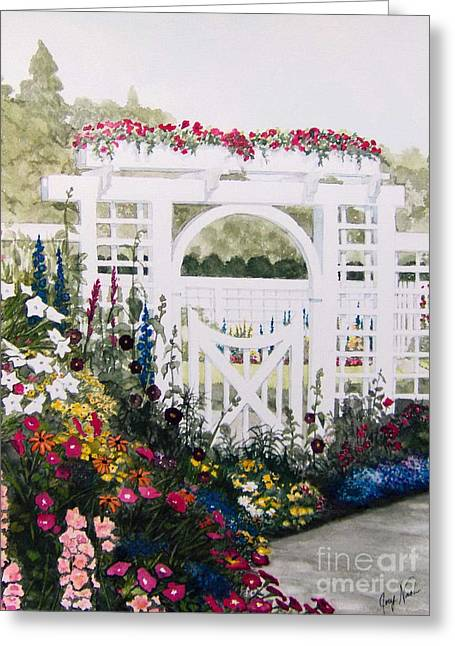 The Arbour Greeting Card by Joey Nash