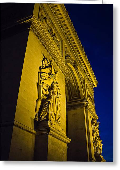 Portrait Sculpture Photograph Greeting Cards - The Arc at Night Greeting Card by Chris Whittle
