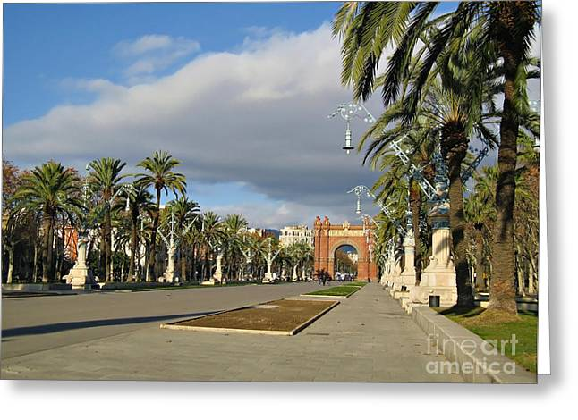 Catalunya Greeting Cards - The Arc de Triomf in Barcelona Greeting Card by Kiril Stanchev