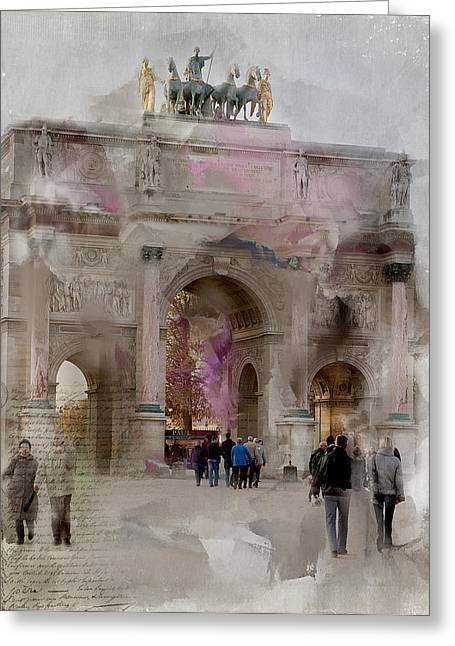 Bastille Greeting Cards - The Arc de Triomphe du Carrousel Greeting Card by Evie Carrier
