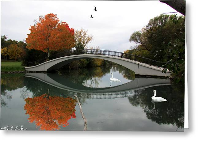 In 1812 Greeting Cards - The Arch Bridge Greeting Card by Michael Rucker