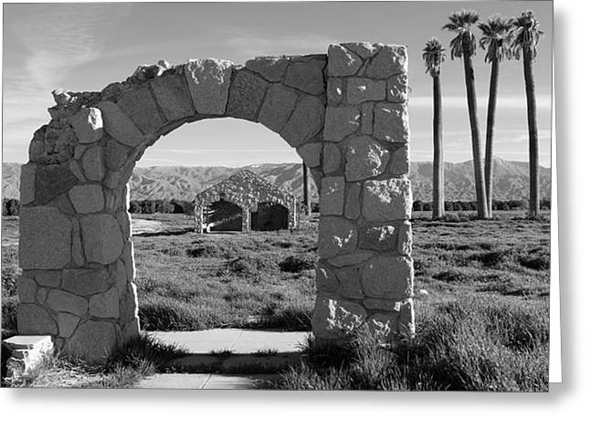 Stone House Greeting Cards - The Arch Greeting Card by Charlette Miller