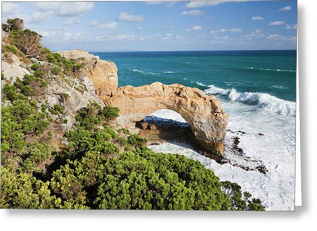 The Arch, Great Ocean Road, Australia Greeting Card by Martin Zwick