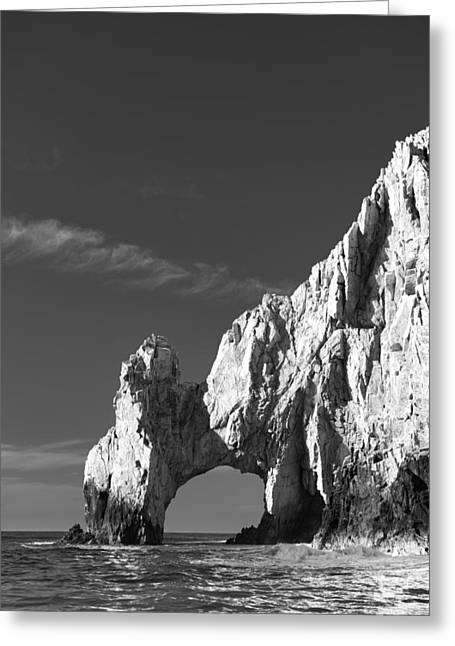 Striking Greeting Cards - The Arch in Black and White Greeting Card by Sebastian Musial