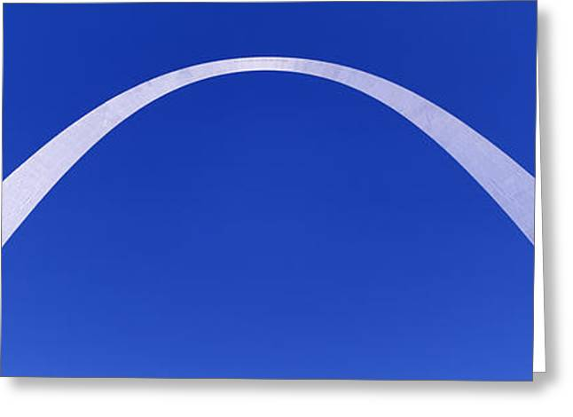 Stainless Steel Greeting Cards - The Arch, St Louis, Missouri, Usa Greeting Card by Panoramic Images