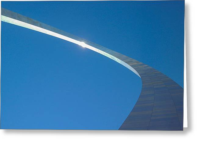 Stainless Steel Greeting Cards - The Arch St Louis MO Greeting Card by Jerry Coli