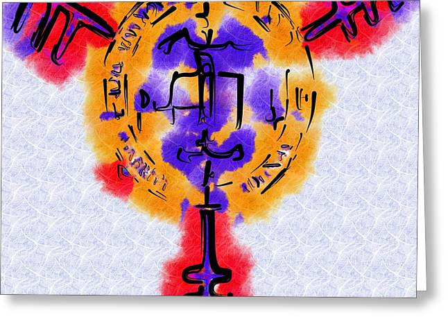 Archangel Mixed Media Greeting Cards - The Archangel Gabriel Sigil Greeting Card by Mitchell Gibson