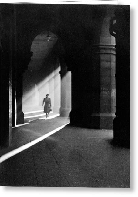 Arcades Greeting Cards - The Arches In Howard Street, 1955 Greeting Card by .