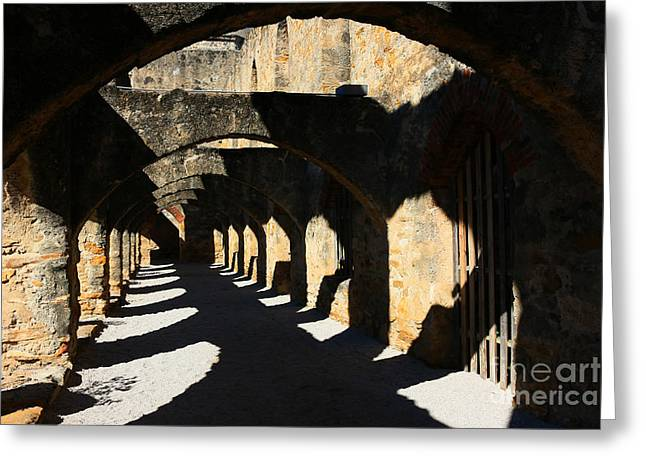 Southwest Gate Print Greeting Cards - The Arches Greeting Card by Jeanette French