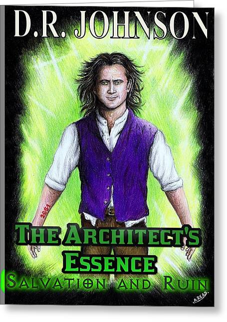 Glowing Drawings Greeting Cards - The Architects Essence Greeting Card by Andrew Read