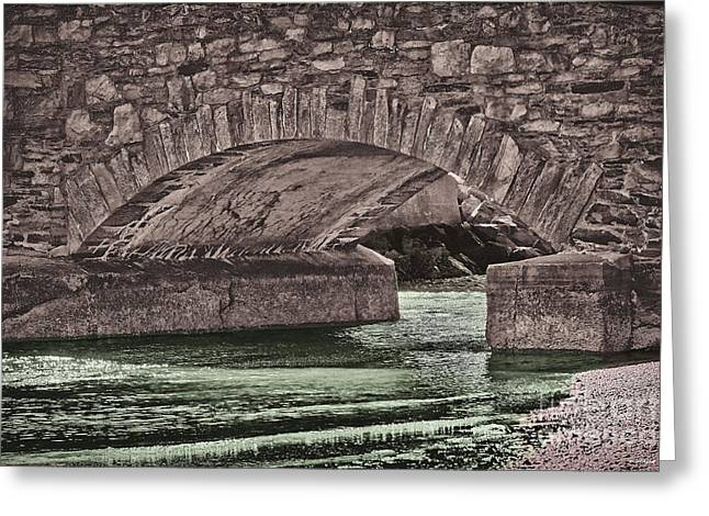 Artistic Landscape Photos Greeting Cards - The archway Bristol Rhode Island Greeting Card by Tom Prendergast