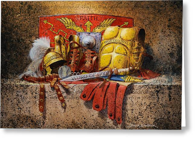 Gospel Greeting Cards - The Armour of God Greeting Card by Graham Braddock