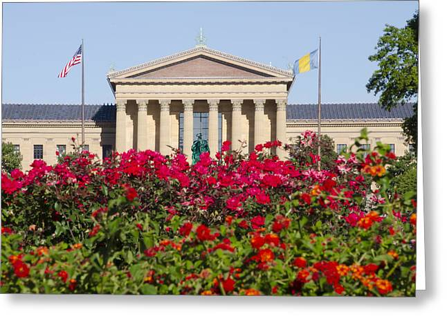 Phillies Art Digital Art Greeting Cards - The Art Museum in Summer Greeting Card by Bill Cannon