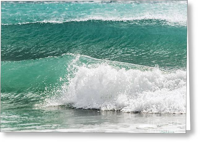 The Art Of A Wave Greeting Card by Michelle Wiarda