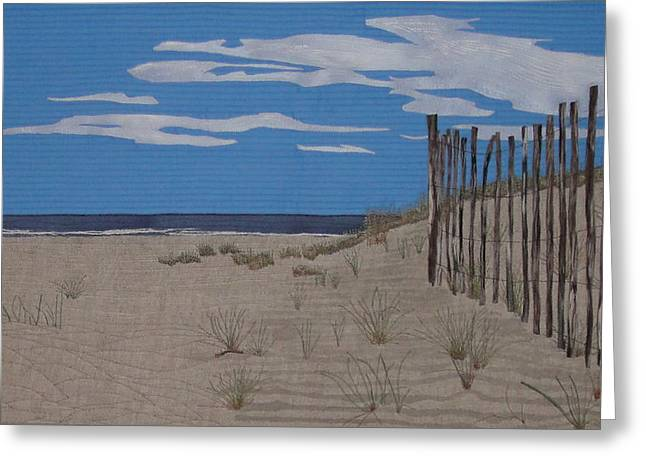 Shadows Tapestries - Textiles Greeting Cards - The Art of Fencing Greeting Card by Anita Jacques